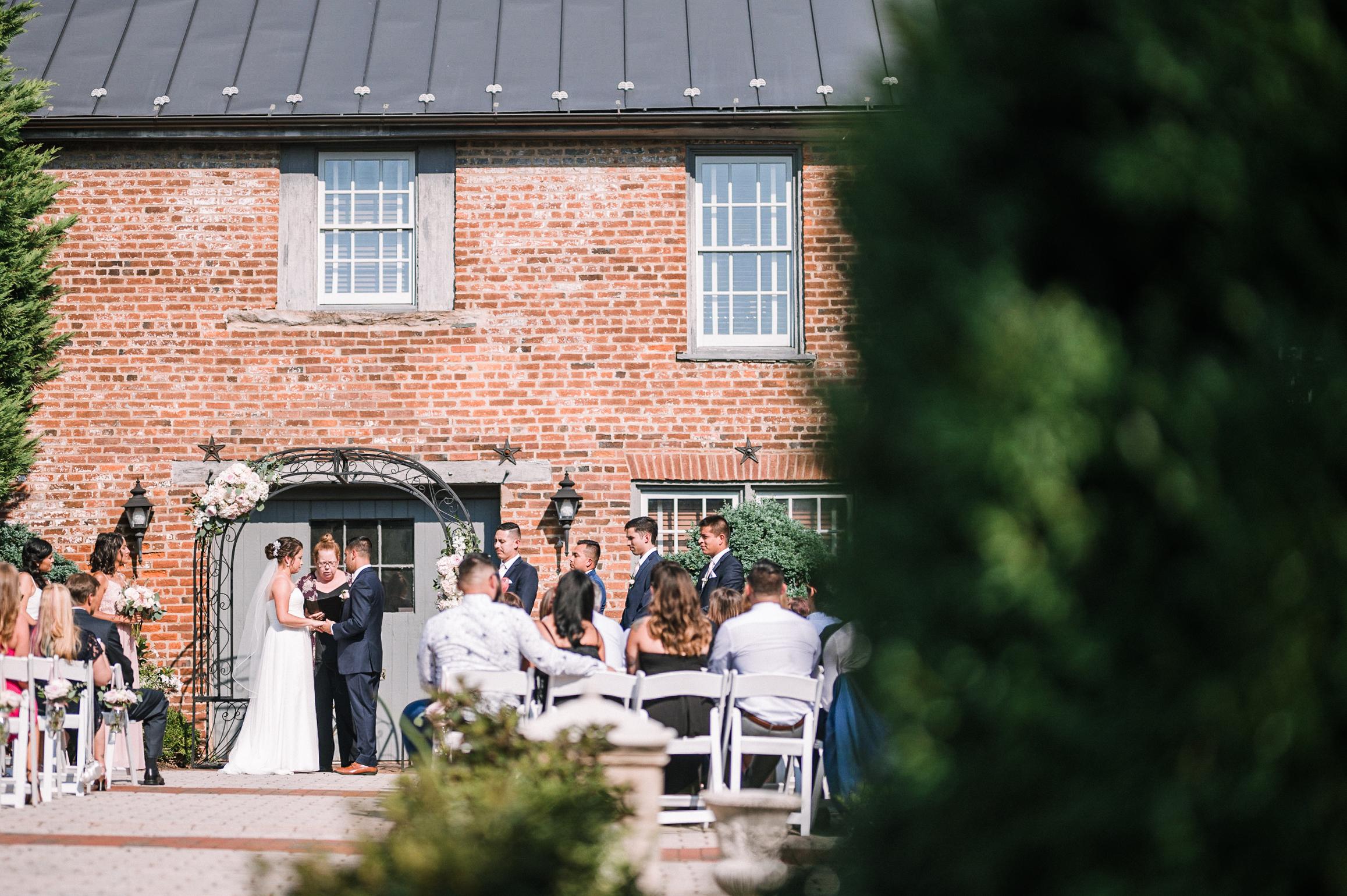 ceremony shot at Birkby House