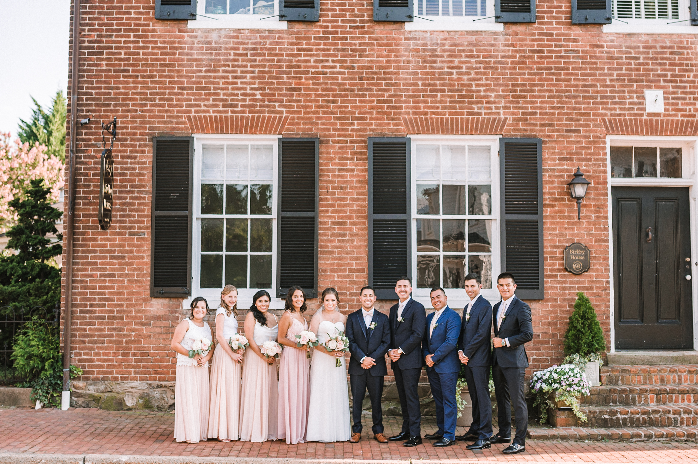 wedding party portrait at Birkby House
