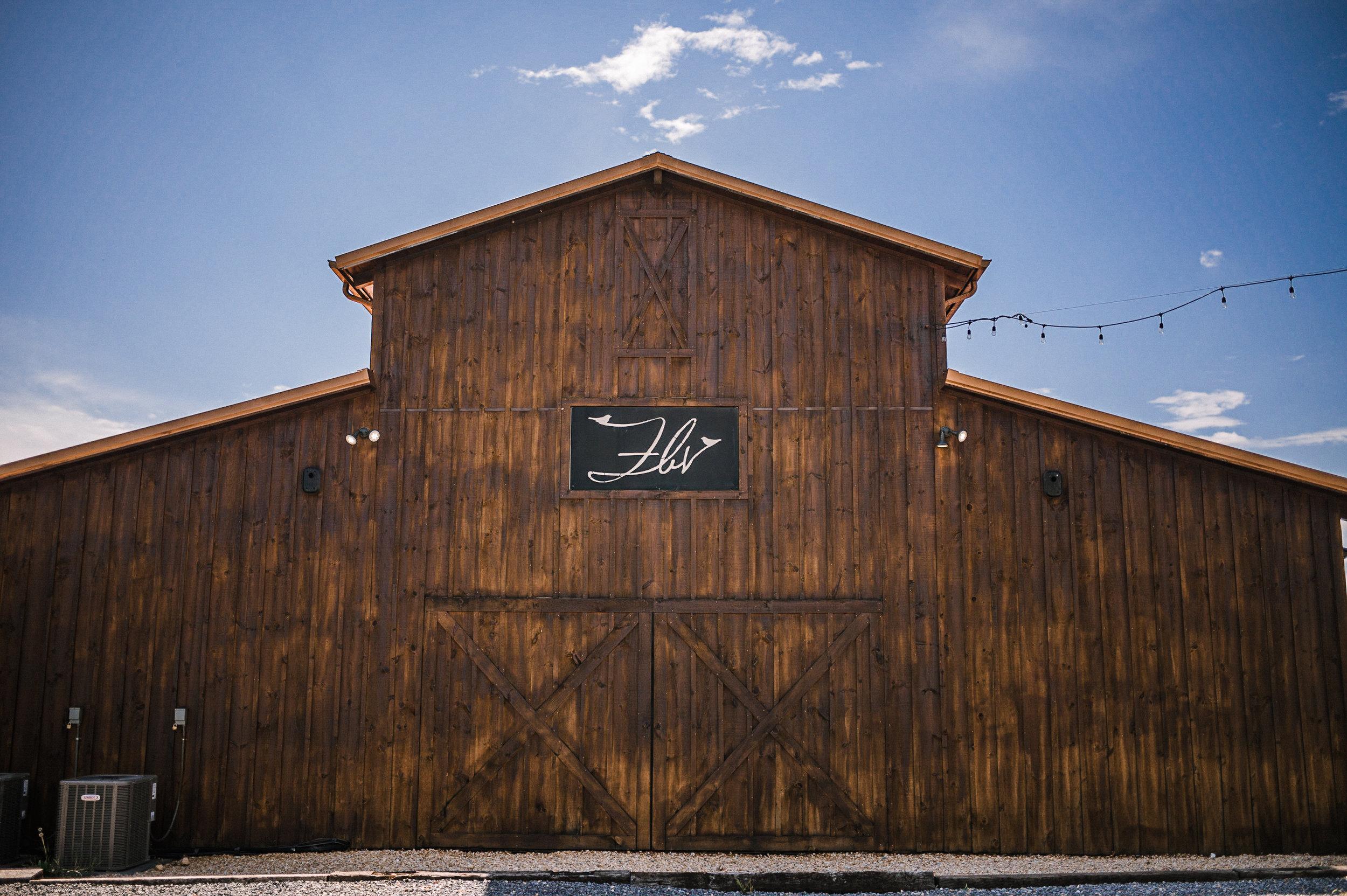 wedding venue shot at Faithbrooke Barn & Vineyards