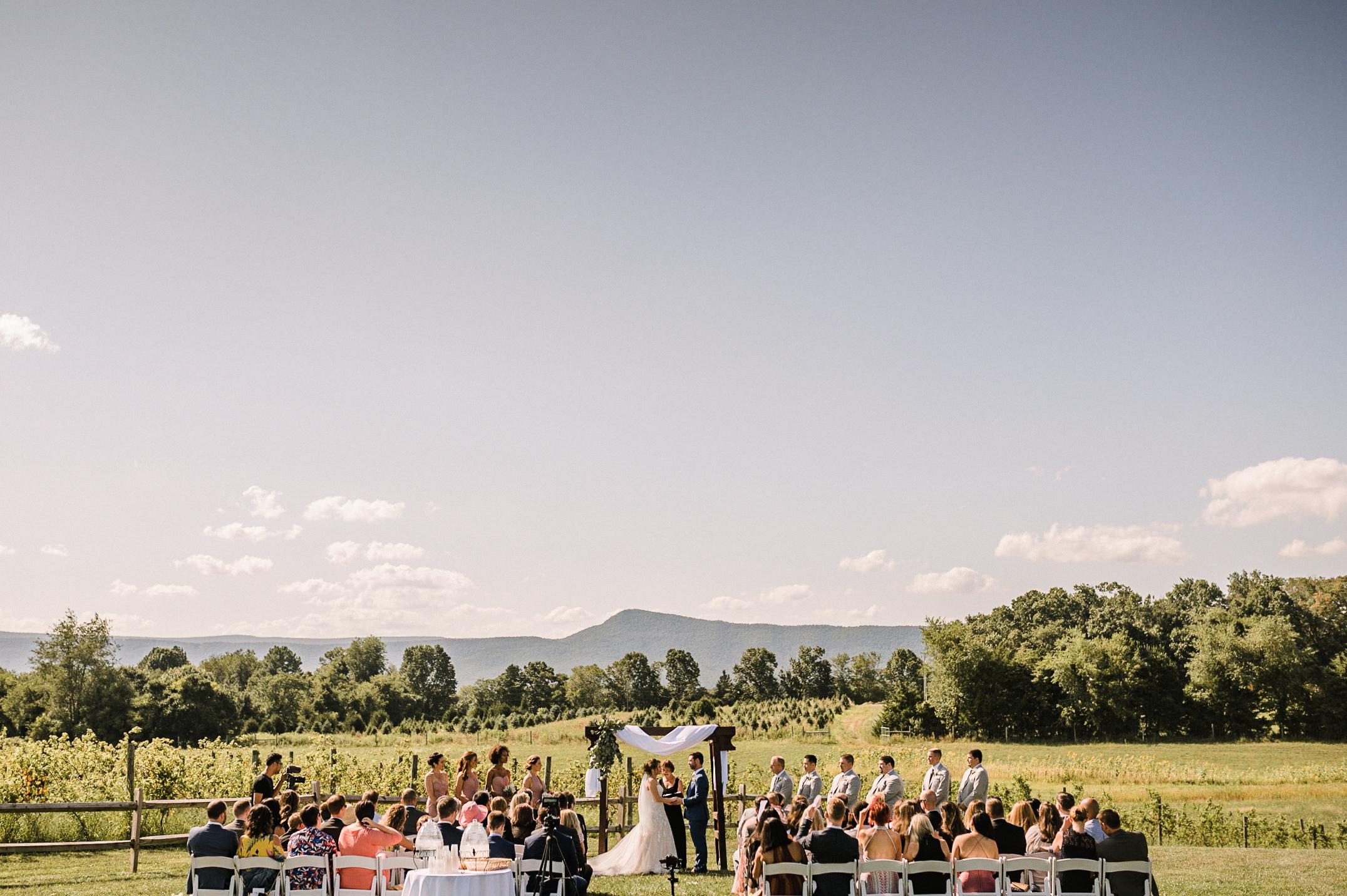 ceremony shot at Faithbrooke Barn & Vineyards