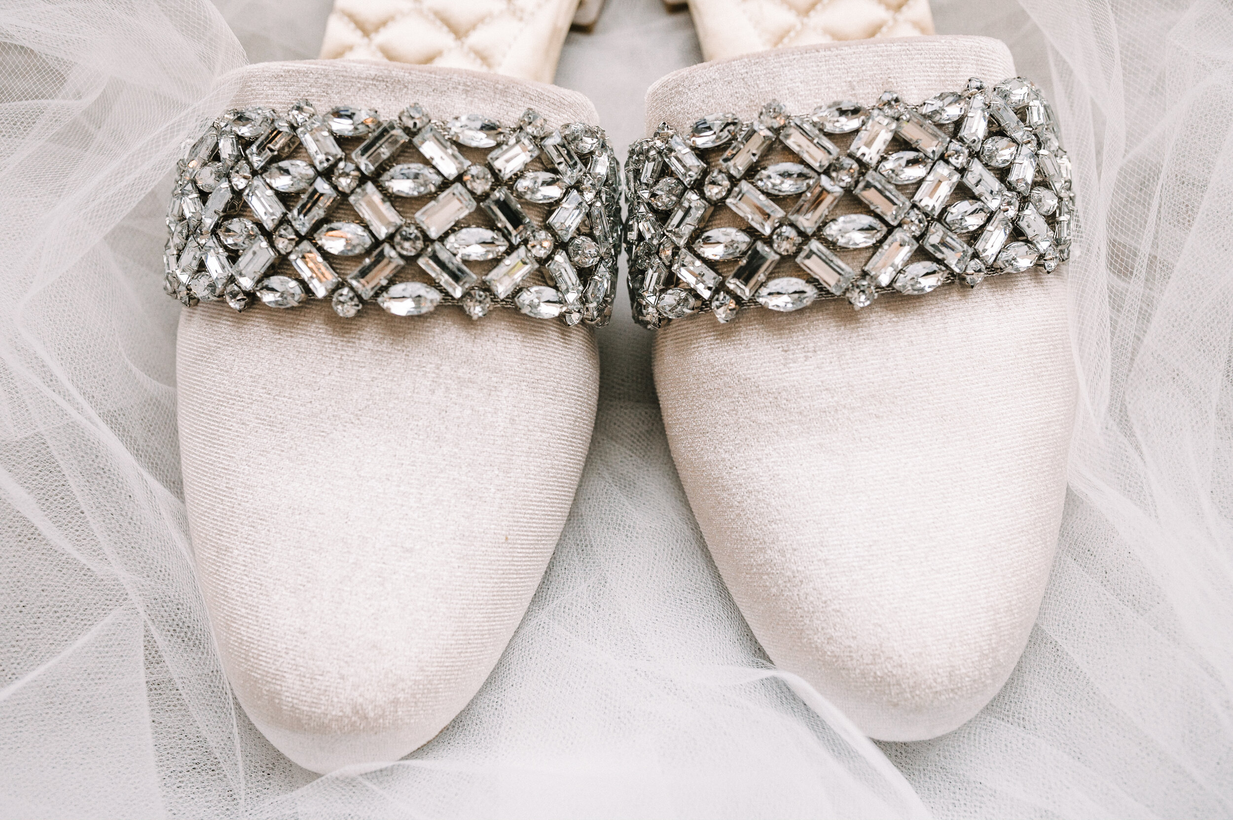 detail shot of wedding shoes at The Winslow