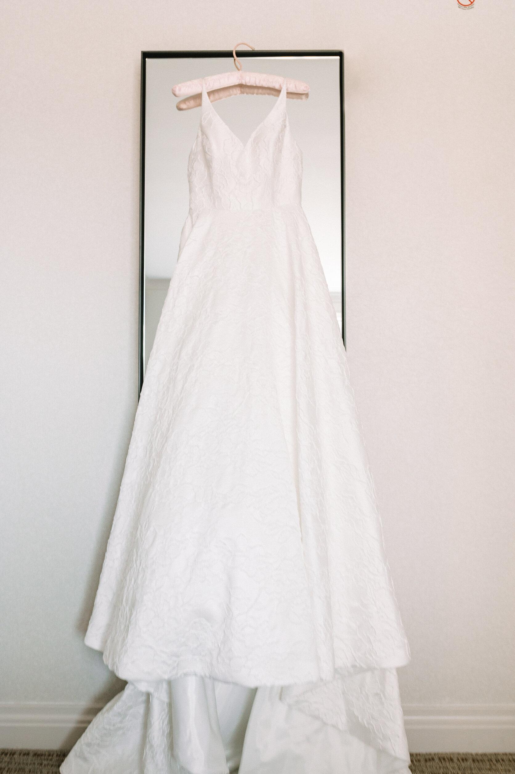 Detail shot of wedding dress at The Winslow