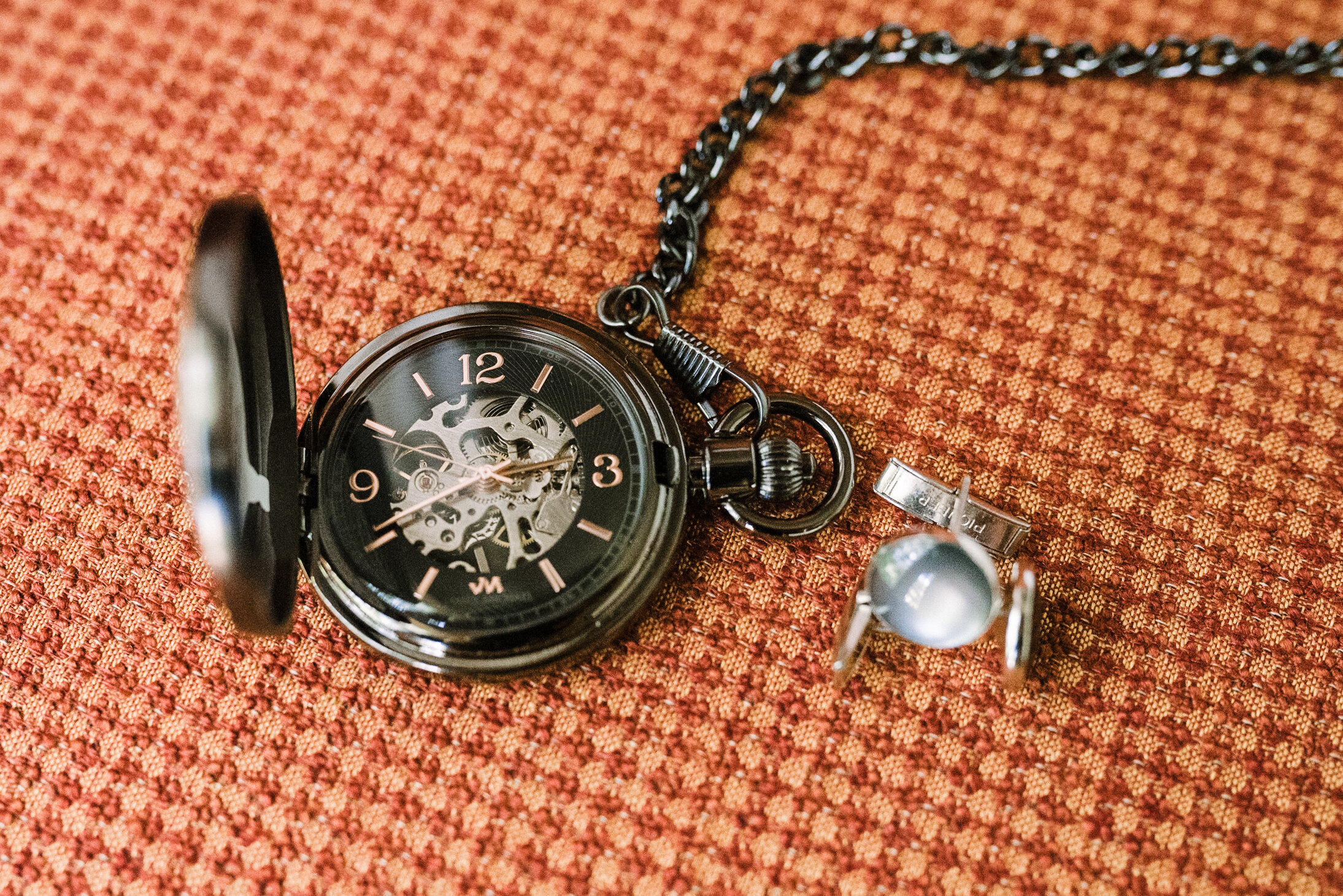 detail shot of pocket watch at Westfields Golf Club