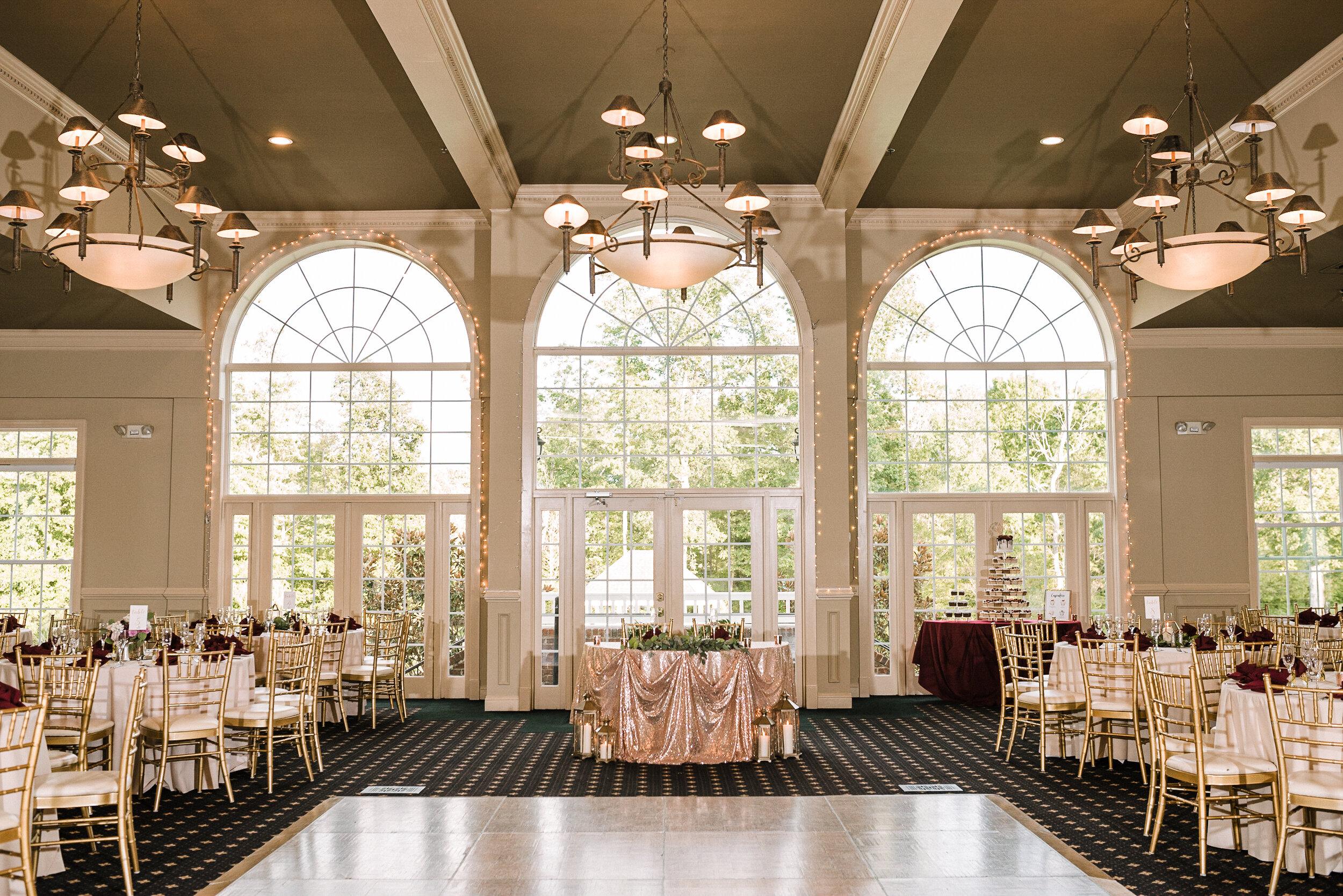 westfields ballroom reception site at Westfields Golf Club