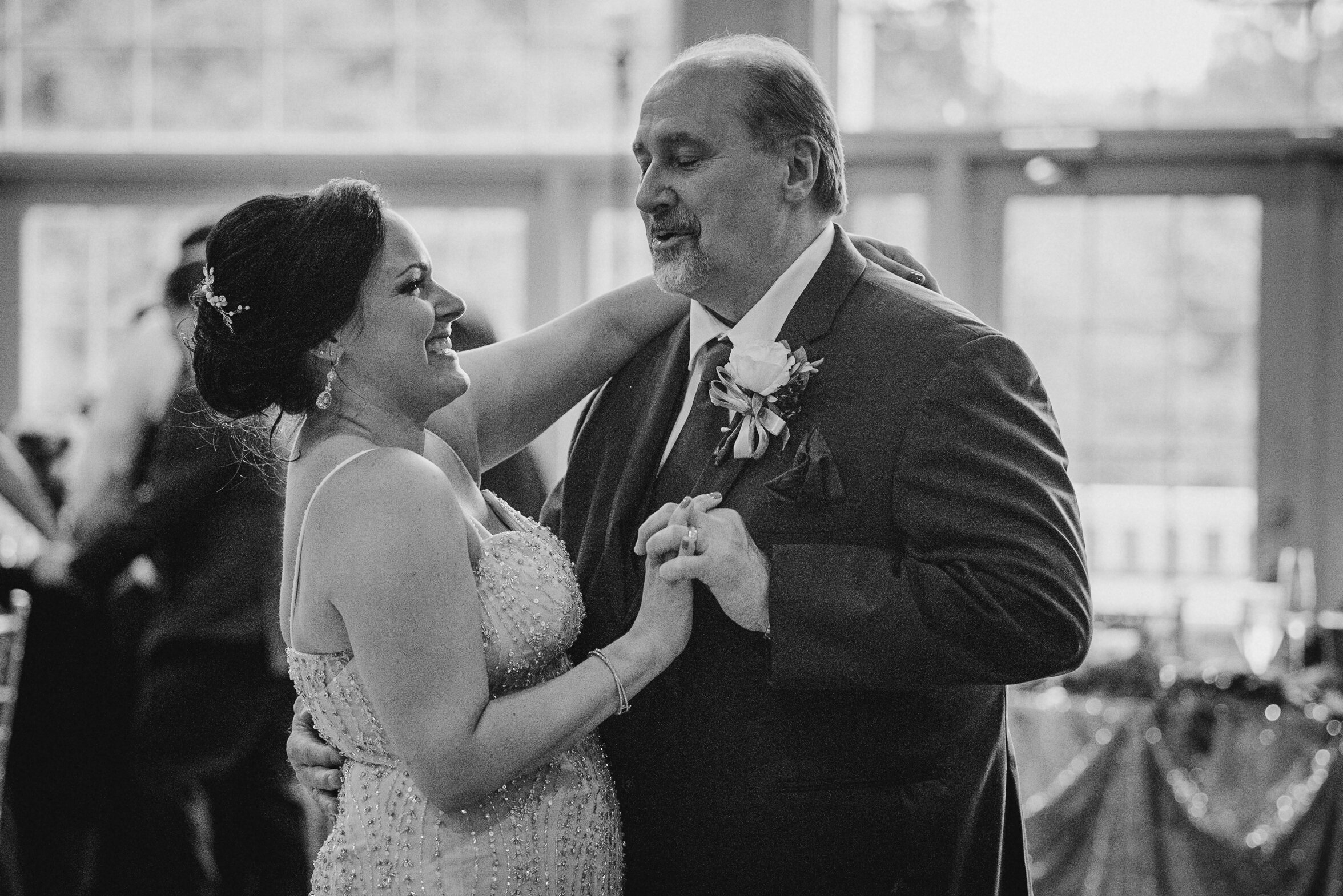 bride dancing with father at Westfields Golf Club