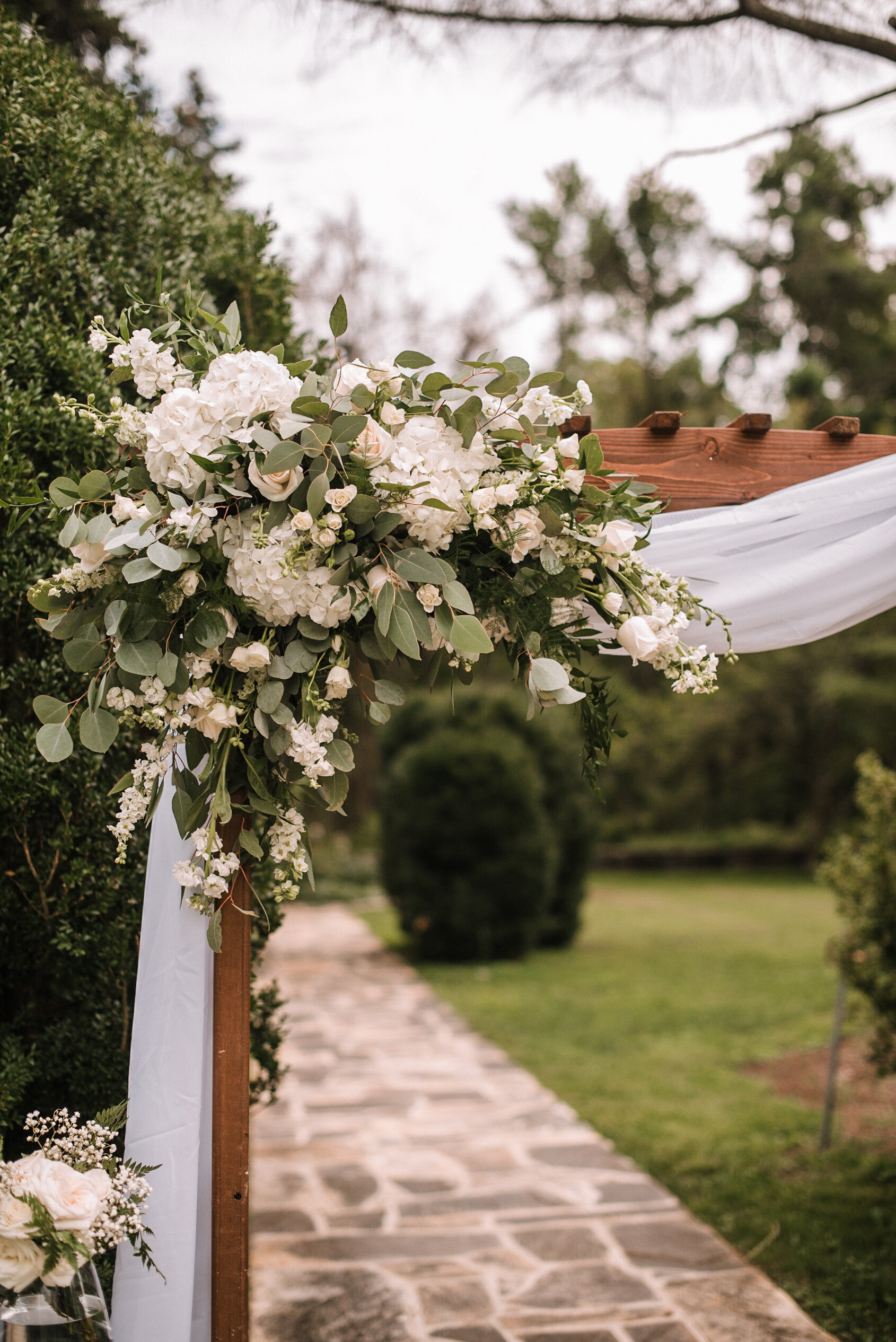 ceremony details at Rust Manor House