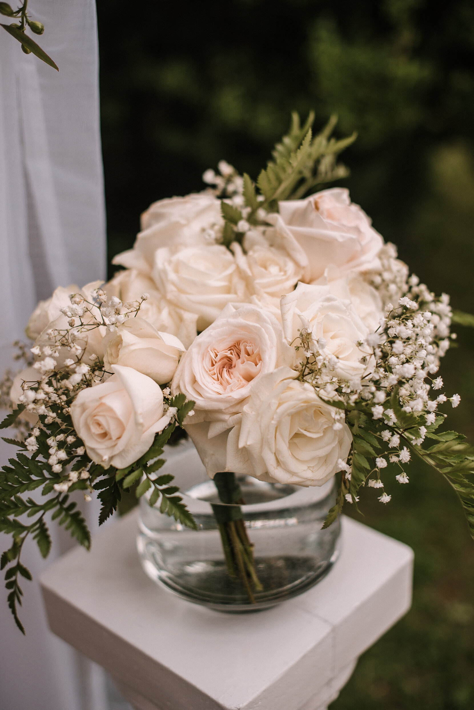 ceremony flowers at Rust Manor House
