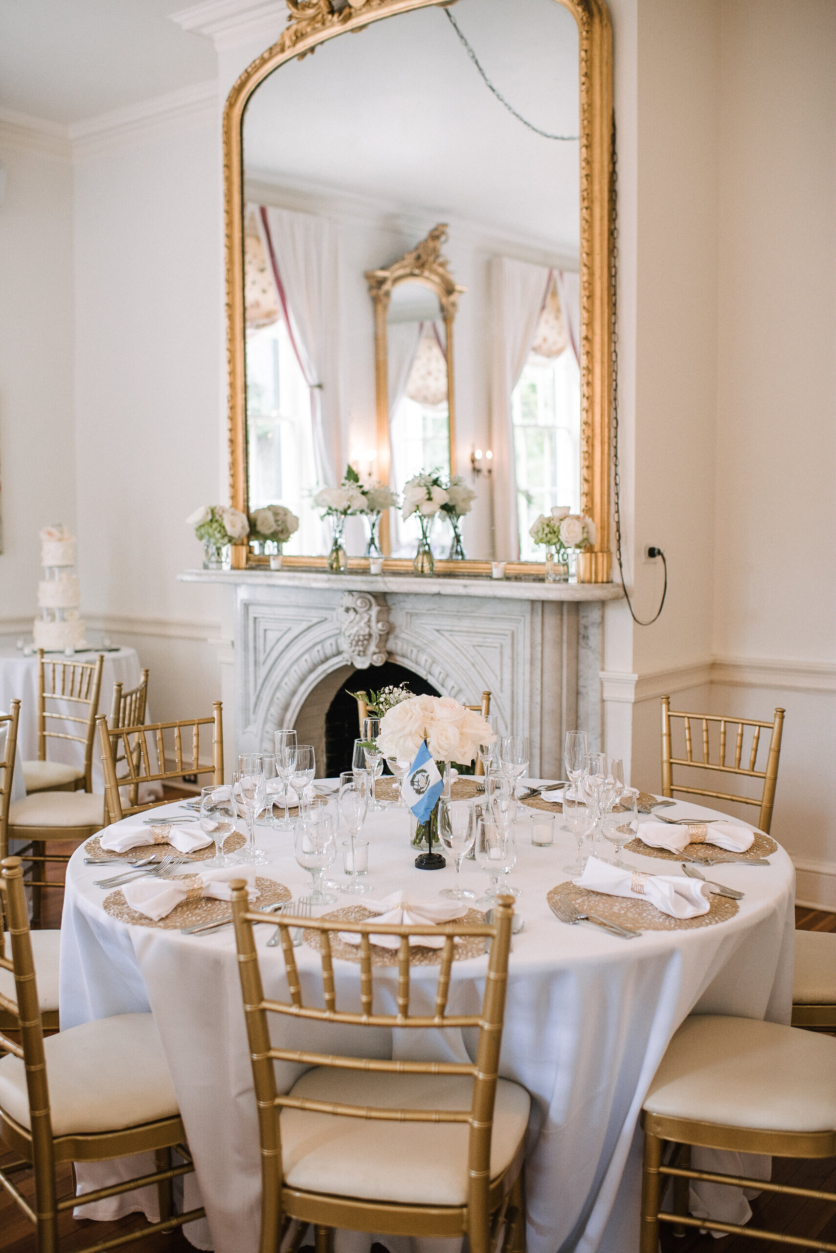 reception details at Rust Manor House