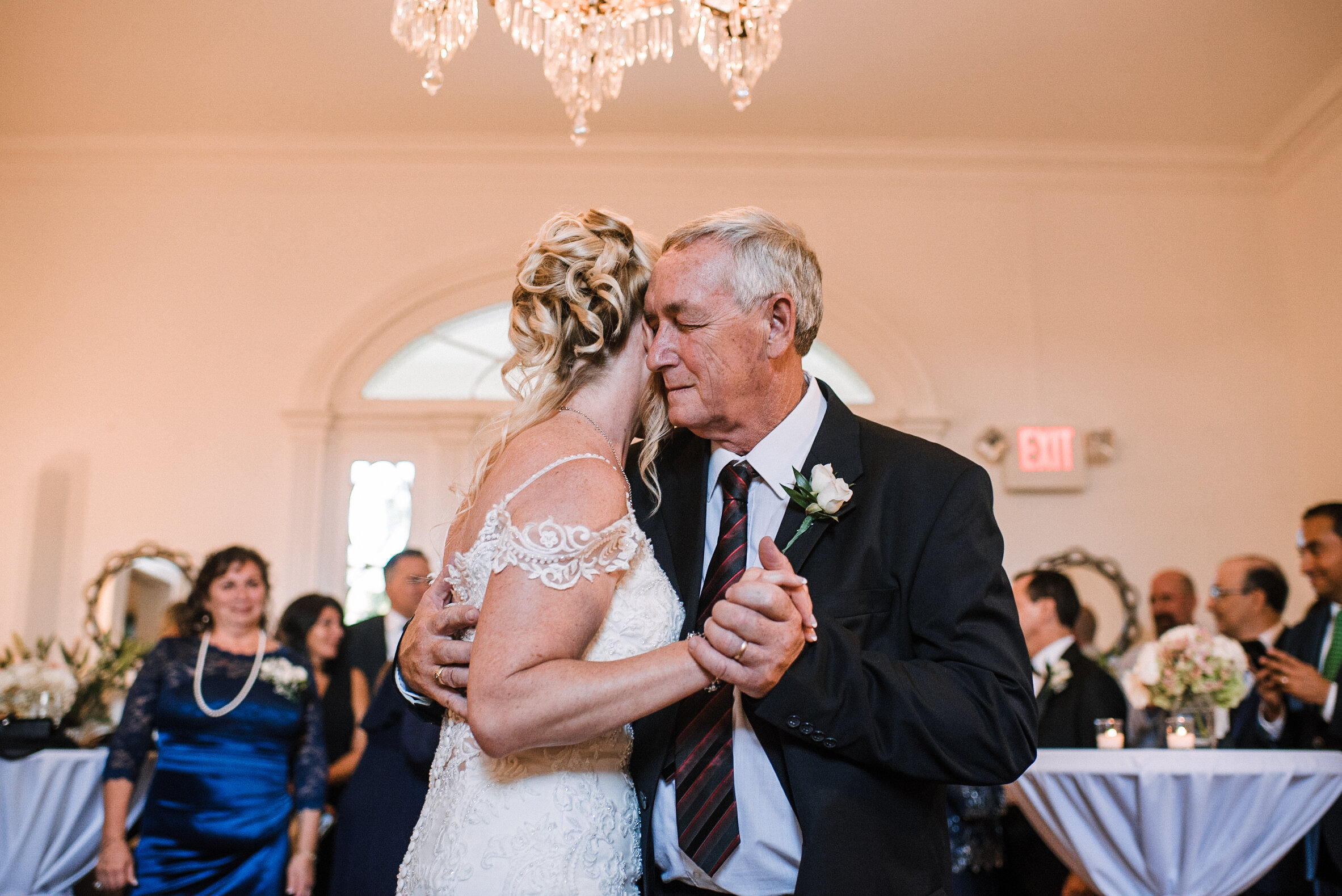bride and father dancing at Rust Manor House