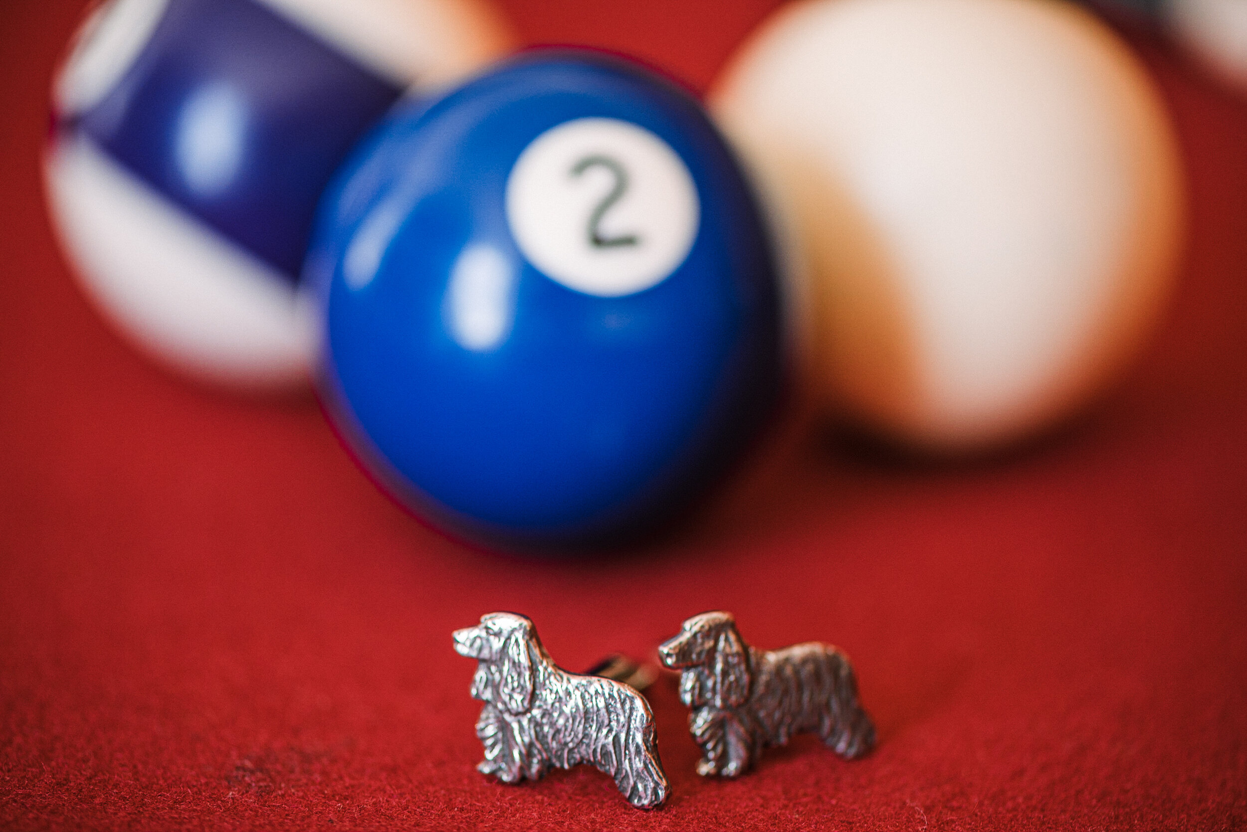 detail shot of cuff links at The Inn at Vint Hill
