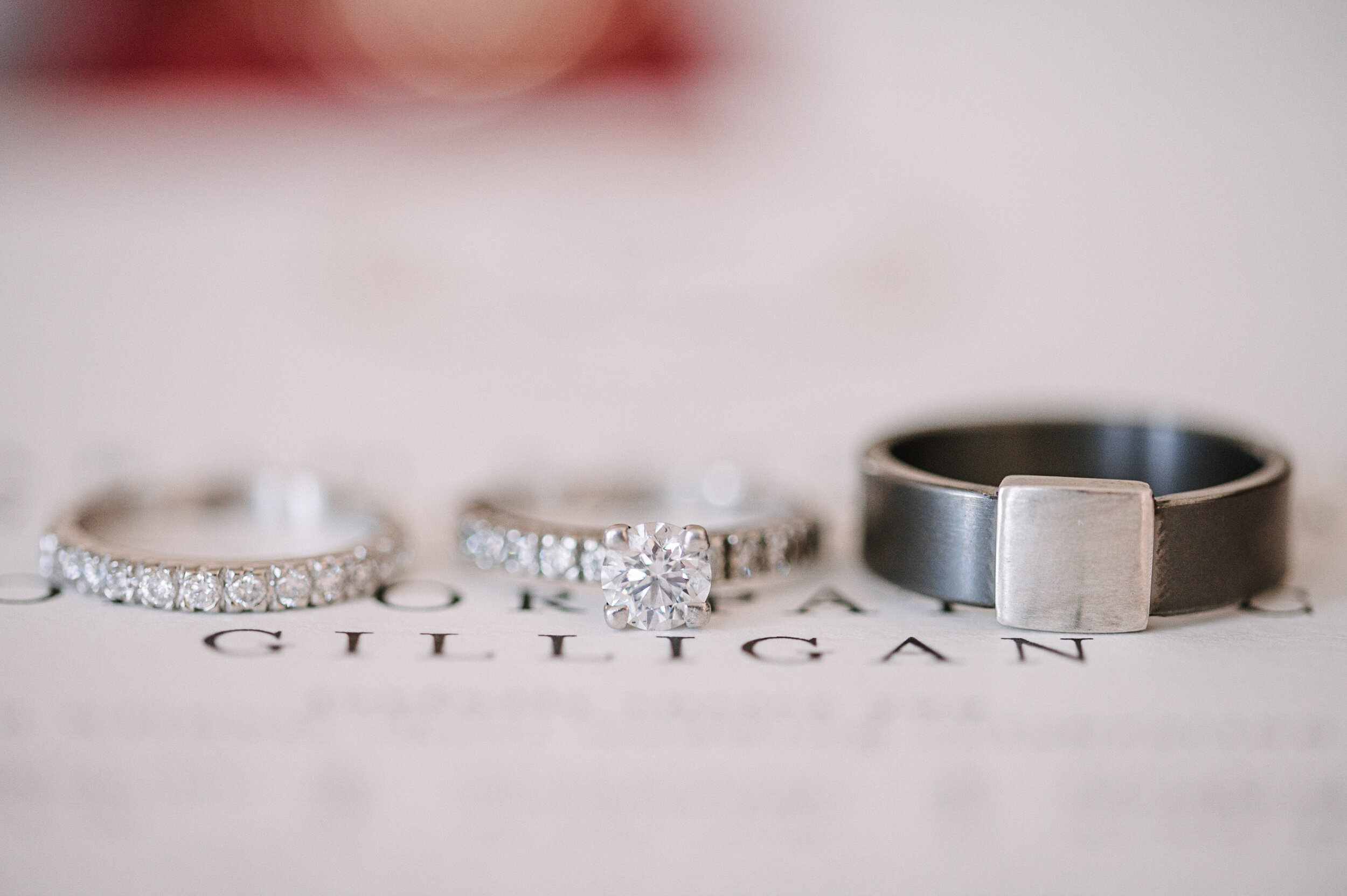 detail shot of wedding rings at The Inn at Vint Hill