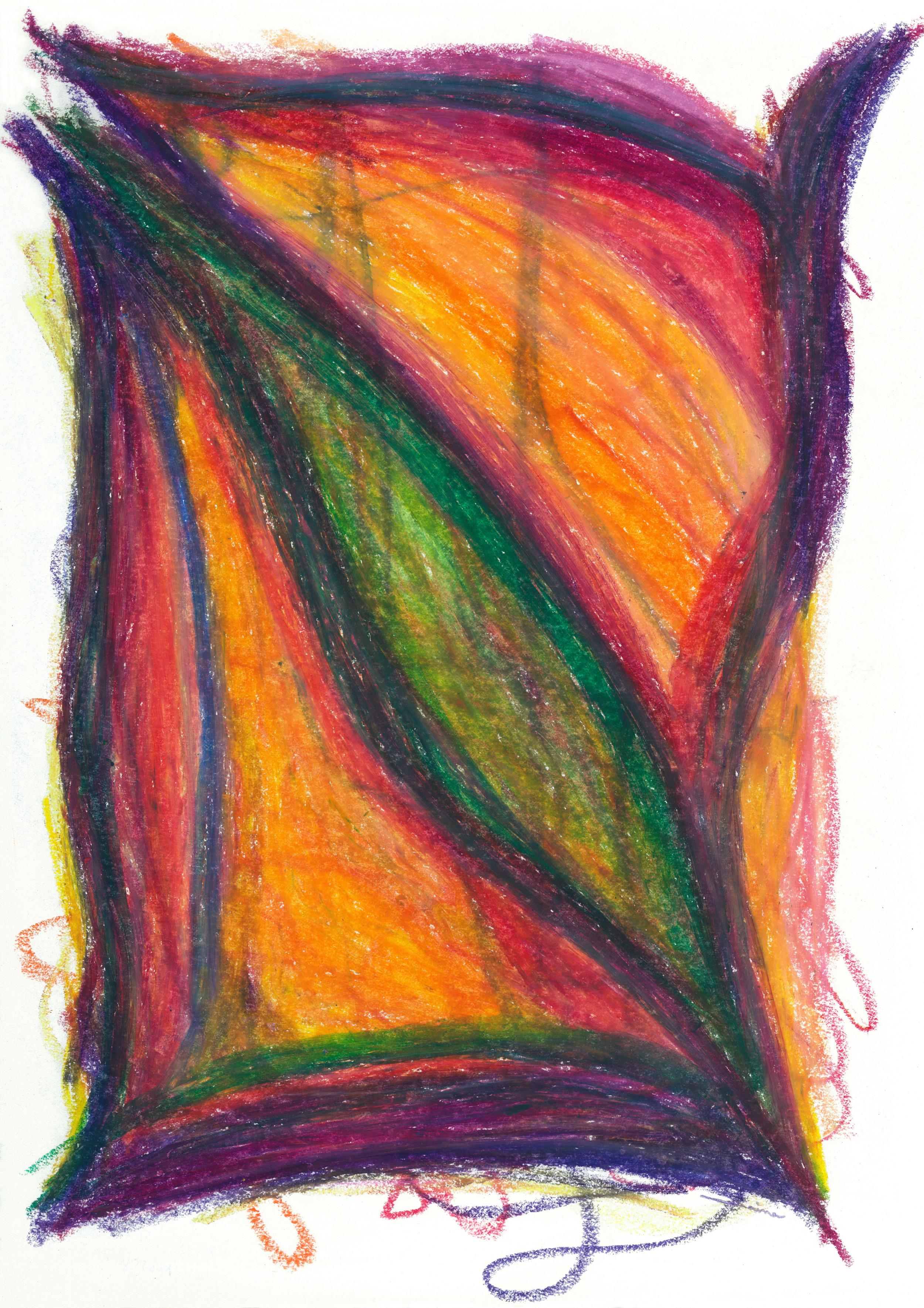 Divine Love , 2012, Oil Pastel, 11 x 14 in