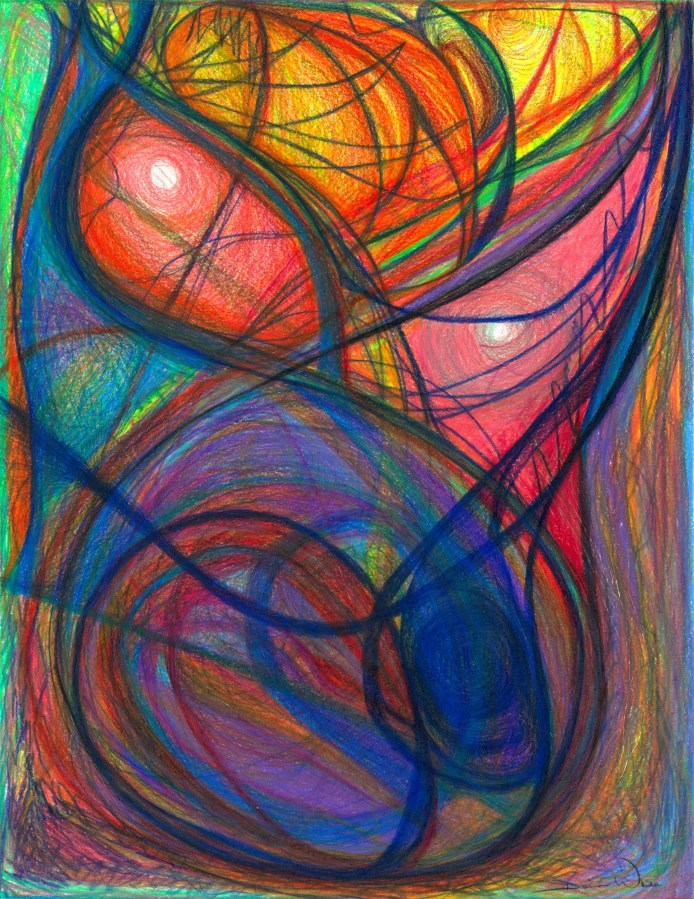 The Pulse Of The Heart Lies Strong , 2012, Colored Pencil,10 x 12.9375 in (16.75 x 19.625 in framed and matted)