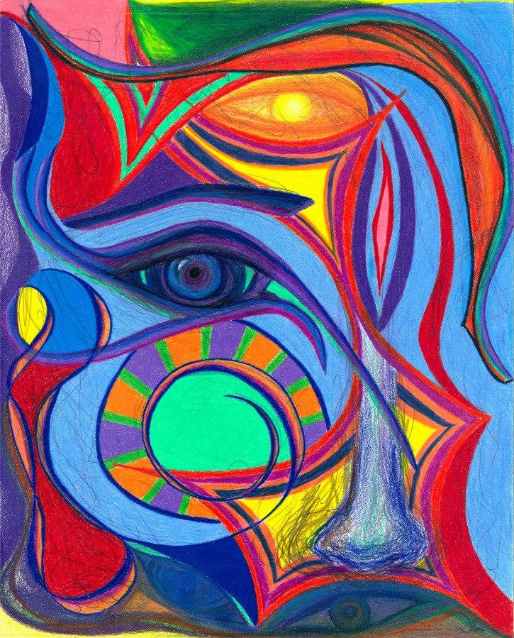 Awakening to Thy True Self , 2012, Colored Pencil