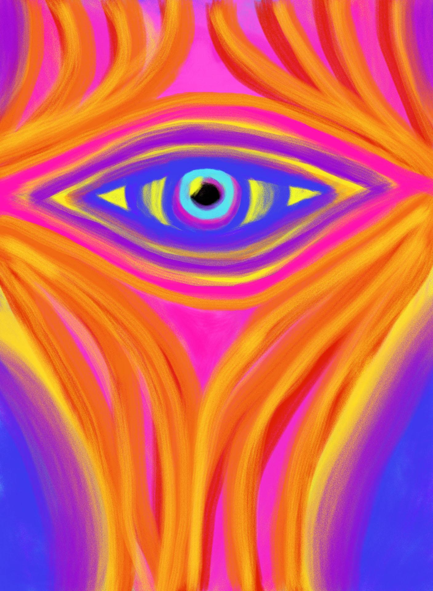 Awakening the Desert Eye , 2012, Digital Art