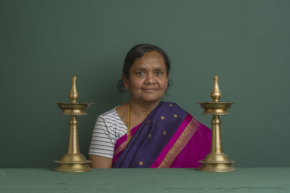 Photograph of Sriyalli Kundurthi(Valli Kundurthi) from  Carry on Homes,  an on-going, collaborative project between Shun Jie Yong and Peng Wu.