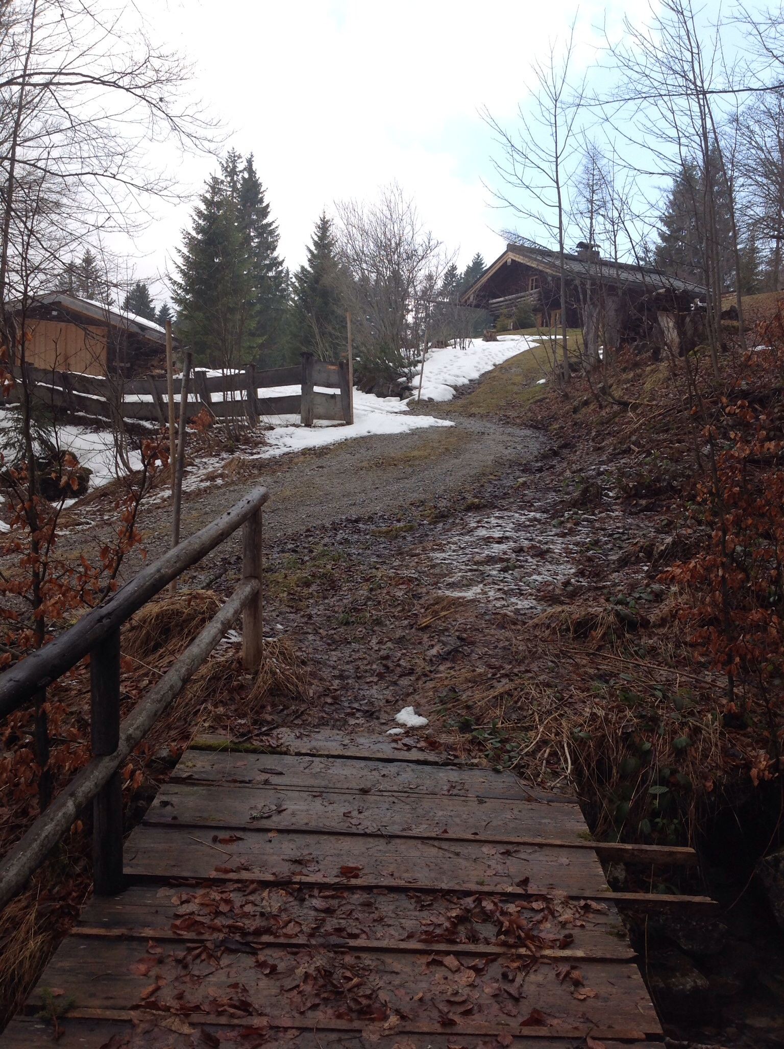 """The """"hut"""" in Bavaria that we stayed at, on the right."""