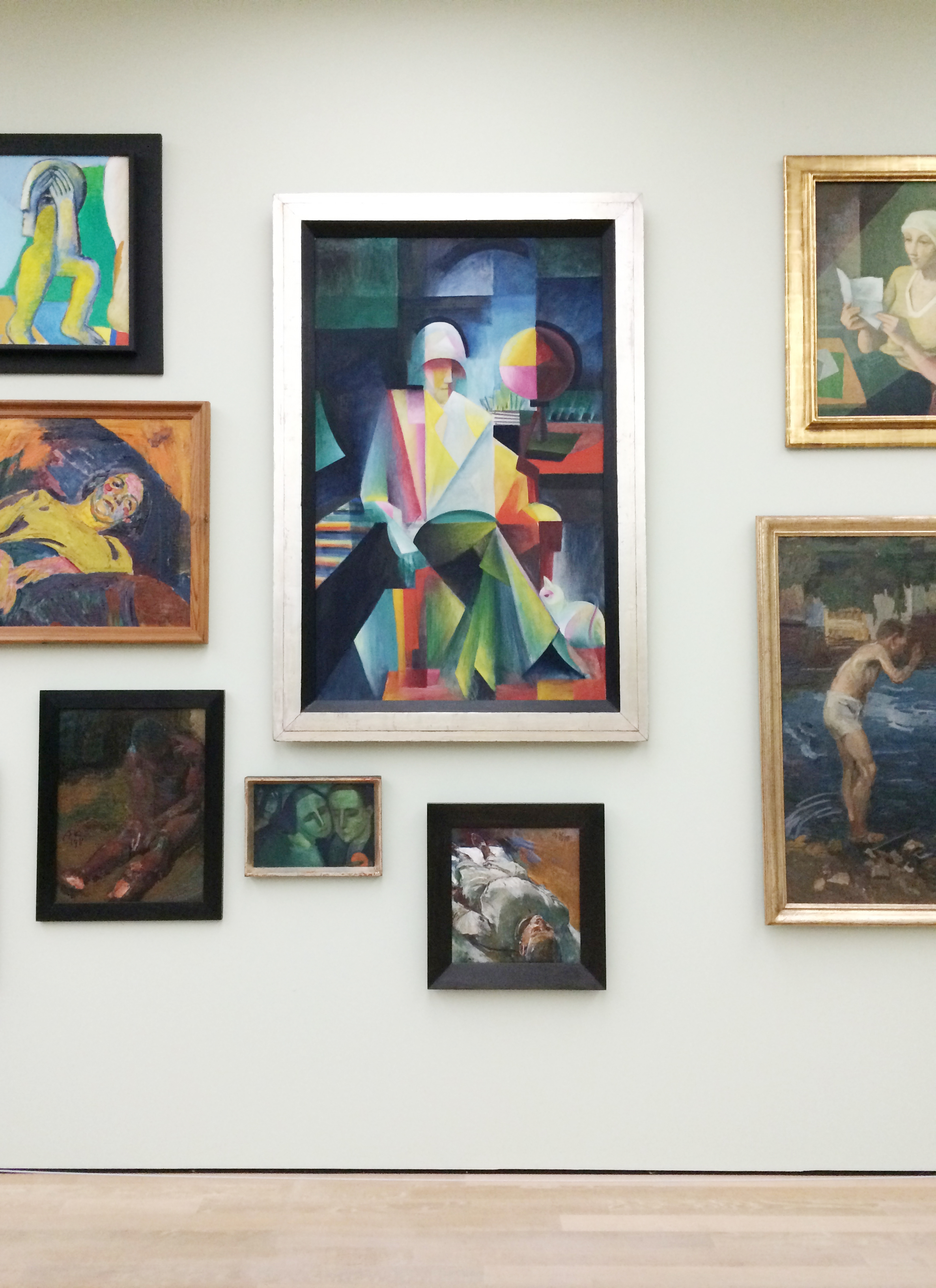 And the paintings.