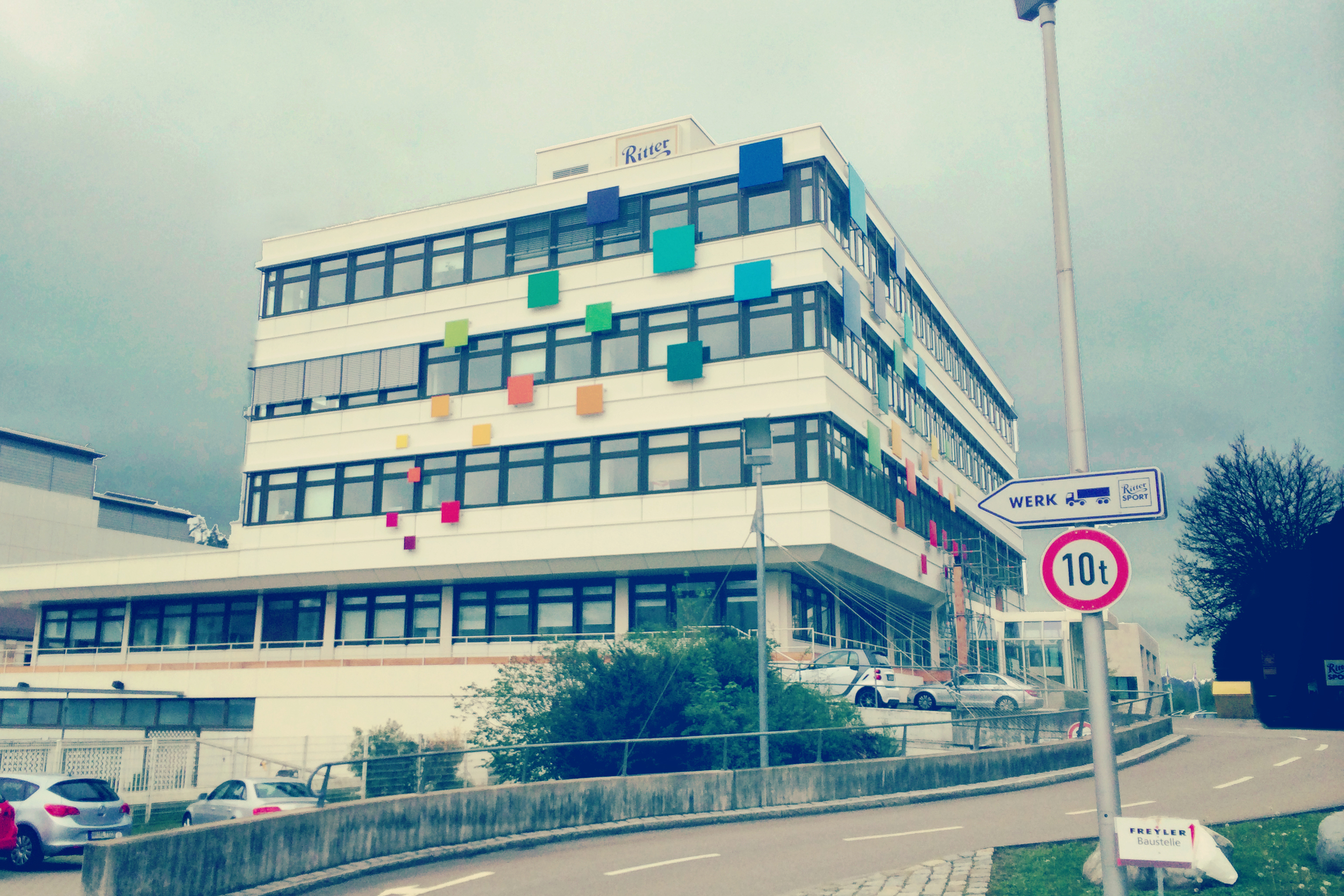 Speaking of good: I went to the Ritter Sport Chocolate museum this week!