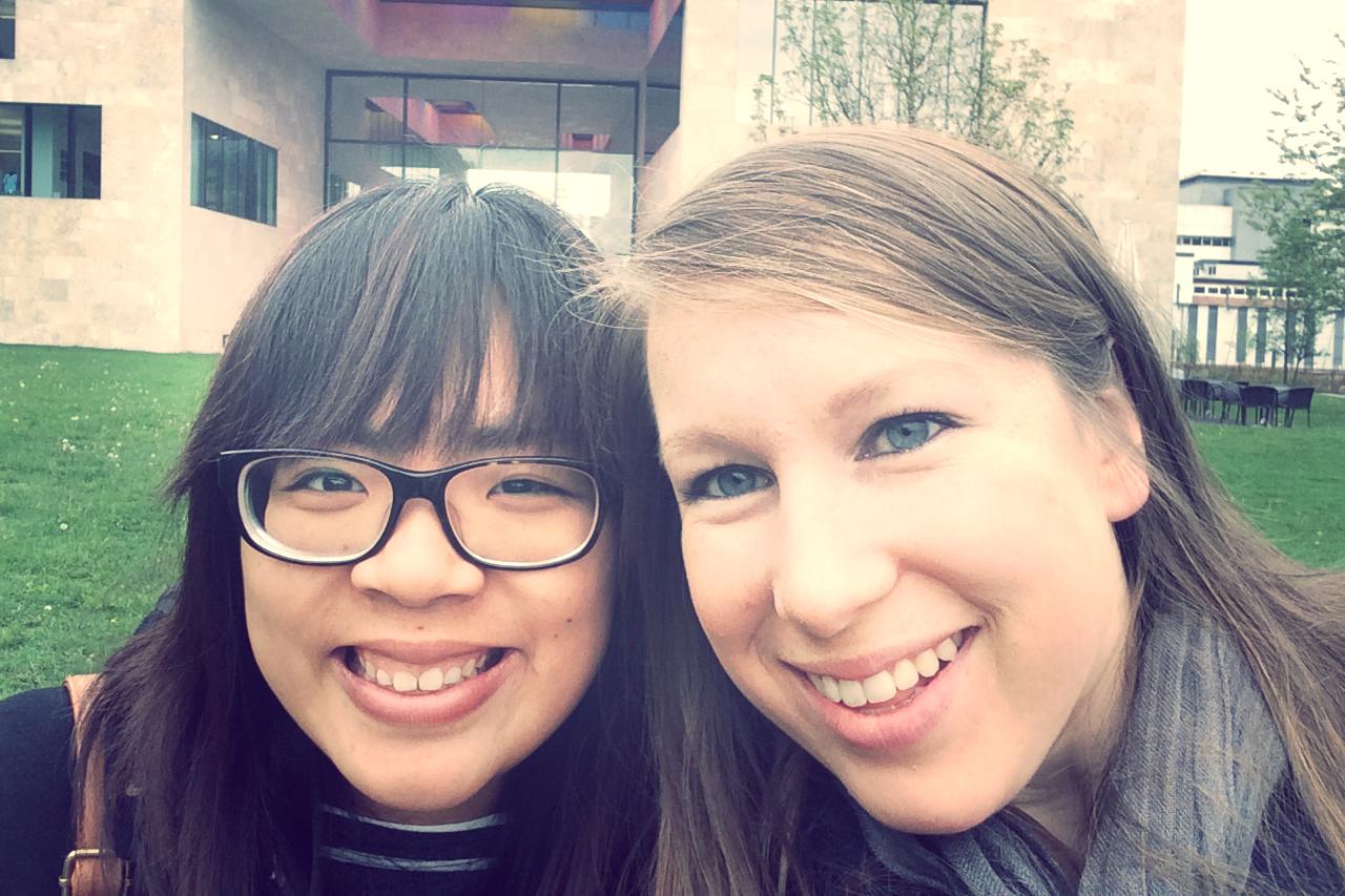 Me and my friend Naomi from my German class! Our teacher told us about this museum, and we decided we had to go!