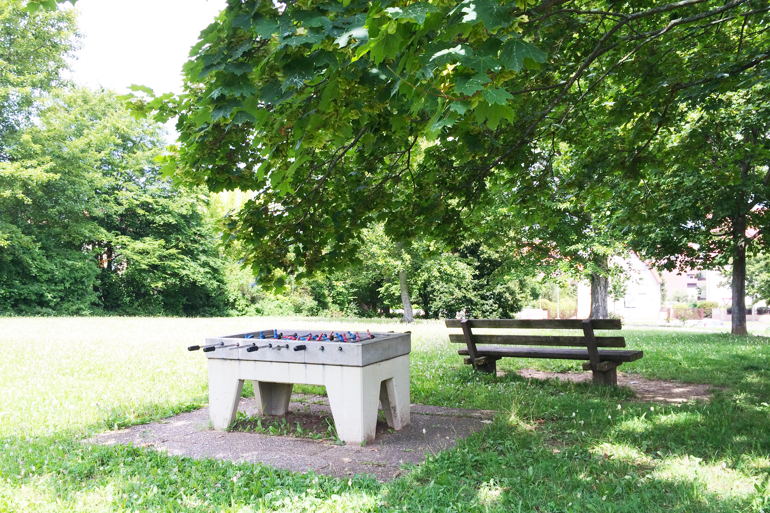 Just when I thought Germany couldn't get any cooler—outdoor foosball table.