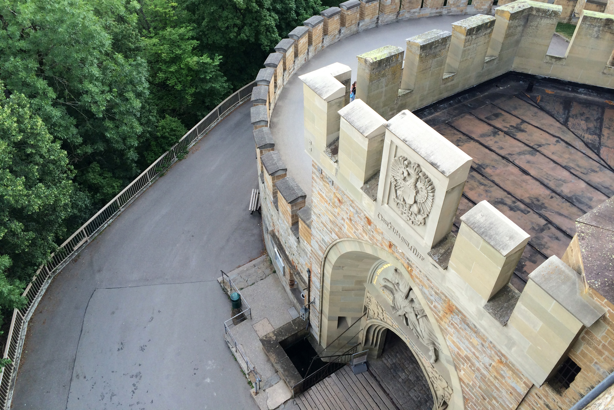 "From Hohenzollern Castle, where we watched ""Romeo and Juliet"""