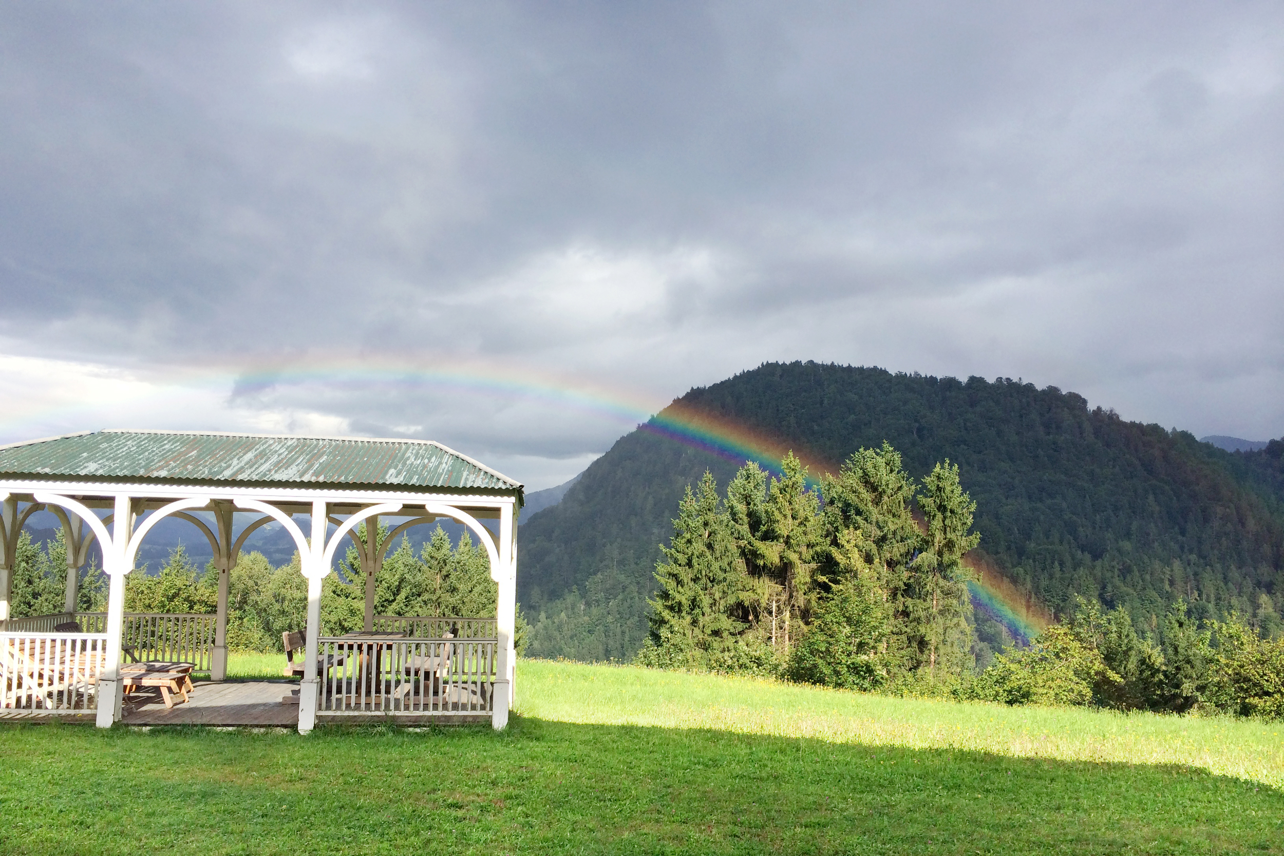 And then there was a rainbow ( Genesis 9:12-17 ). Because rain doesn't last forever :).