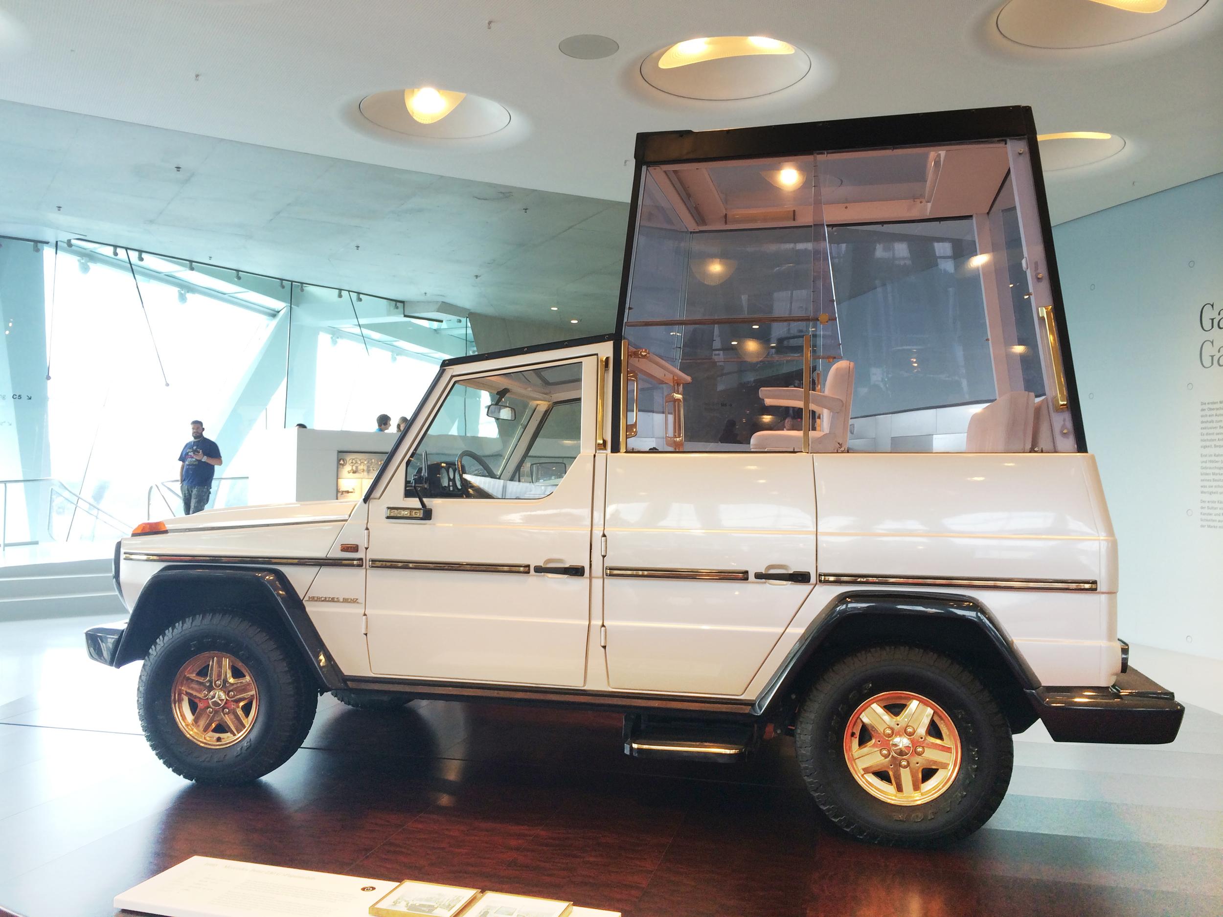 The Popemobile!