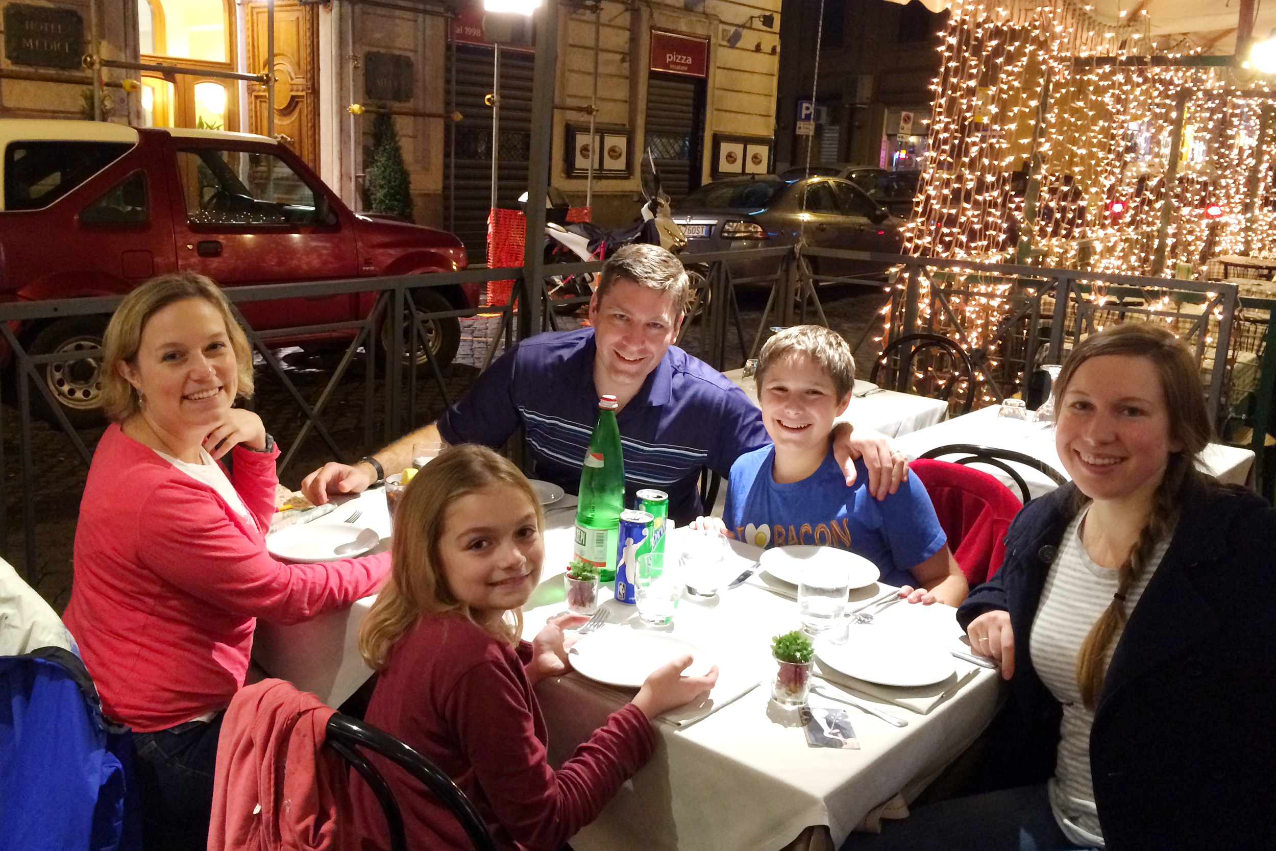 Thanksgiving Dinner! We were grateful to be in Rome!