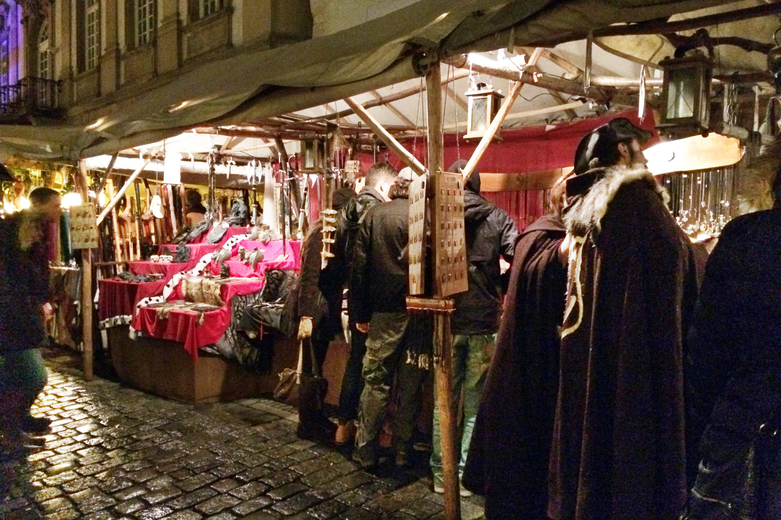 Esslingen is a medieval town, so the rustic streets go perfectly with the market theme.
