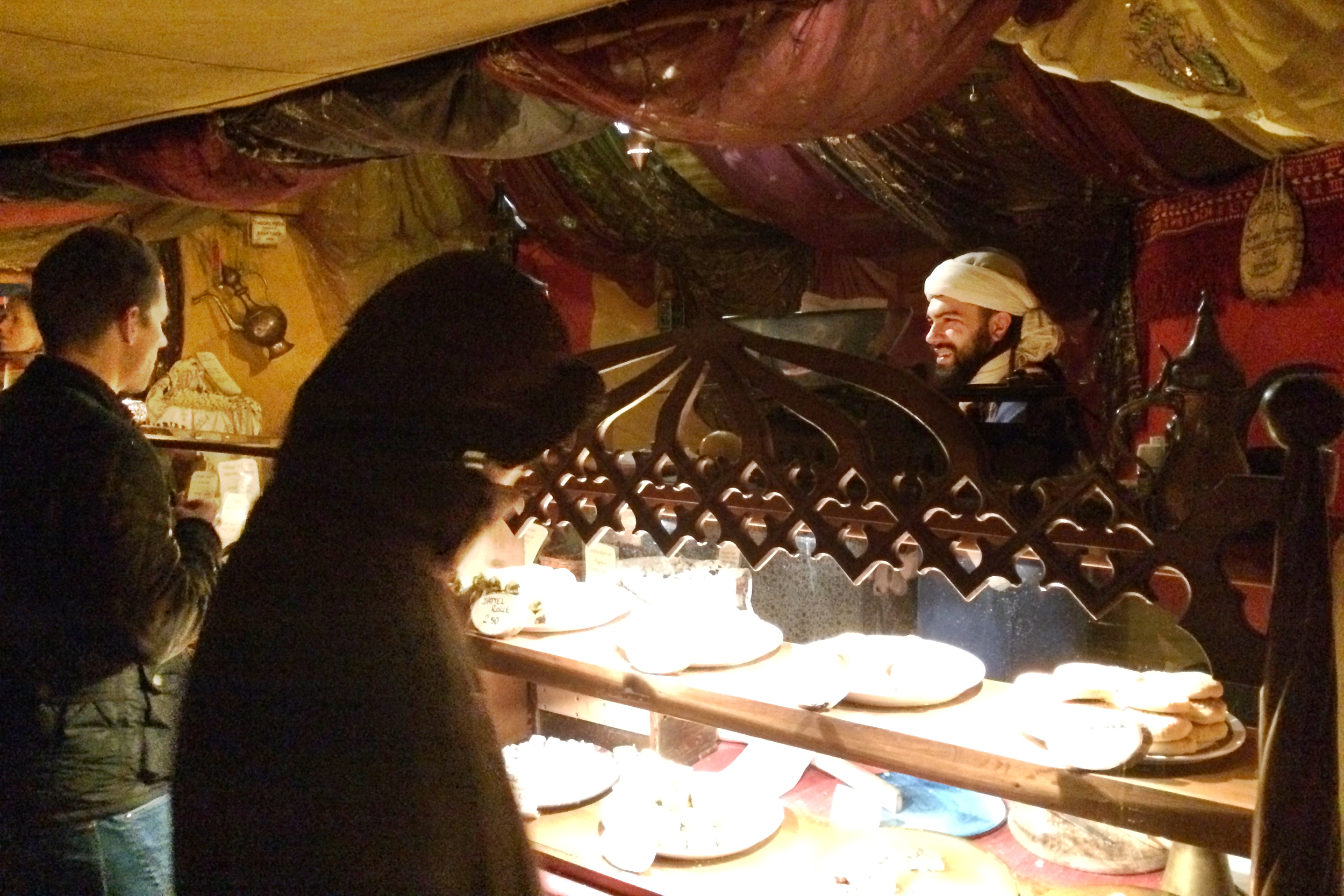 A neat middle eastern-themed tent.
