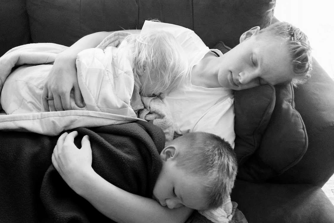 This is my brother George with my niece and nephew. They are dreaming... infinitely.