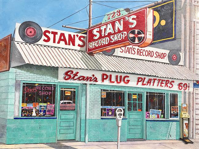 Stan's Record Shop by Don Cobb.