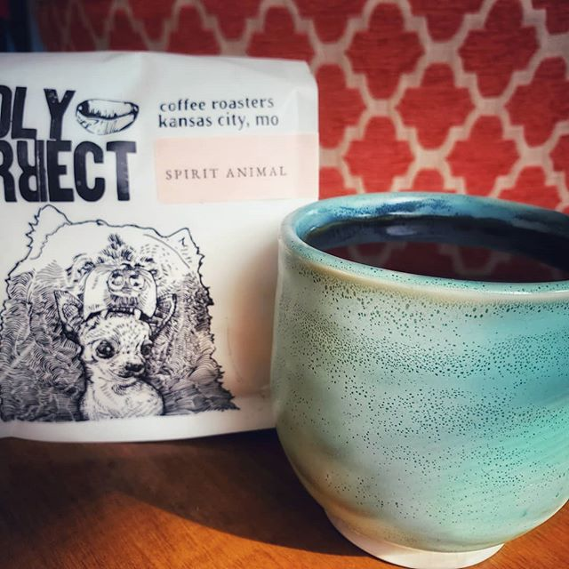 Why yes, coffee IS my Spirit Animal 😁☕🐻 #oddlycorrect #coffee #craftcoffee #isthatathing #blackcoffee #drinkgoodcoffee #lifeblood #riseandgrind #coffeeroasters #spiritanimal #bear #chihuahua #coffeemug #mugshotmonday #adaylate #whoops #ceramics #clay #kcclay #kc
