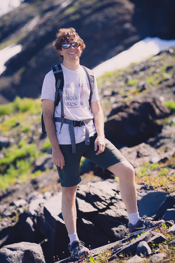 My trusty co-hiker @milampix