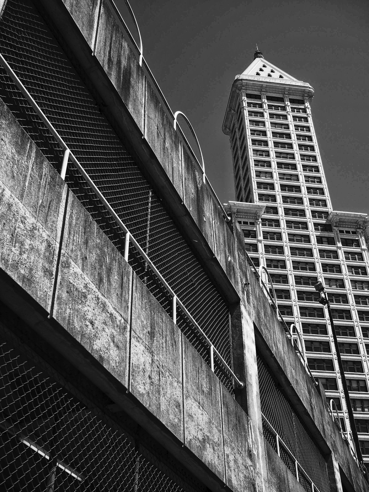Smith Tower as seen from Pioneer Square