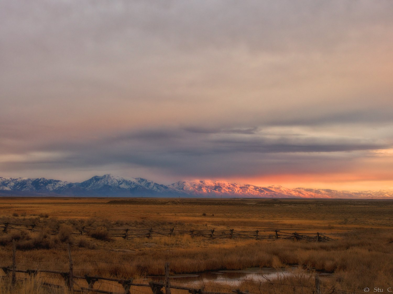 Wasatch Range across the Salt Lake