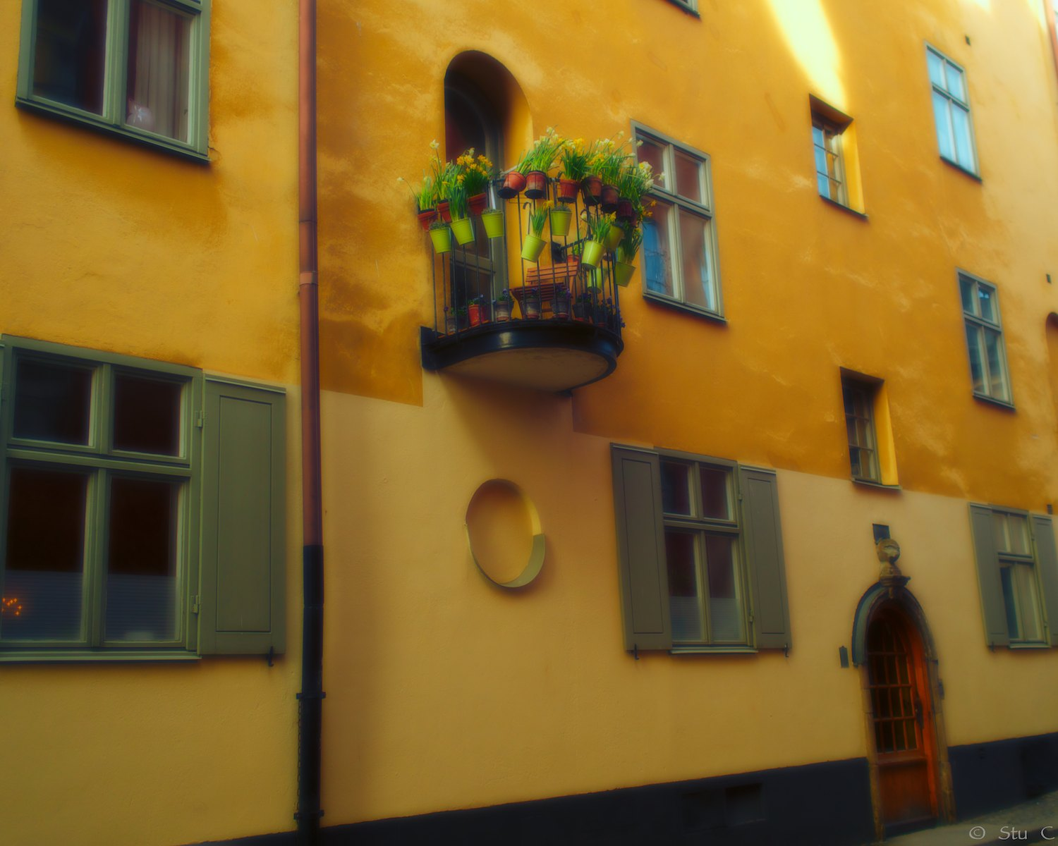 Colorful old town Stockholm