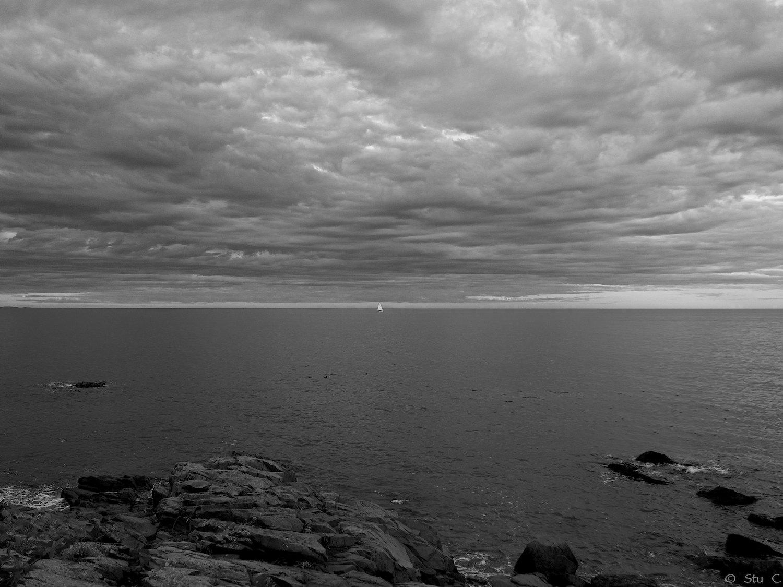 Gulf of Maine - Lone Sail