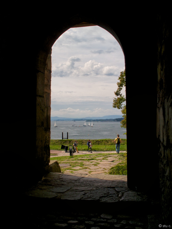 View from Akerhus across Oslo Harbor