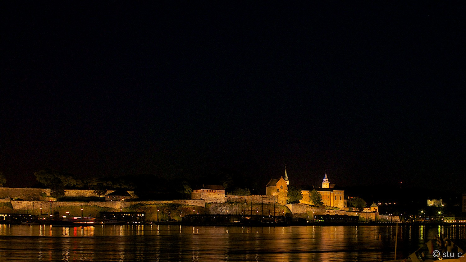 This night view of Akerhus was actually taken on our last night in Oslo, a week after first visiting the fortress.