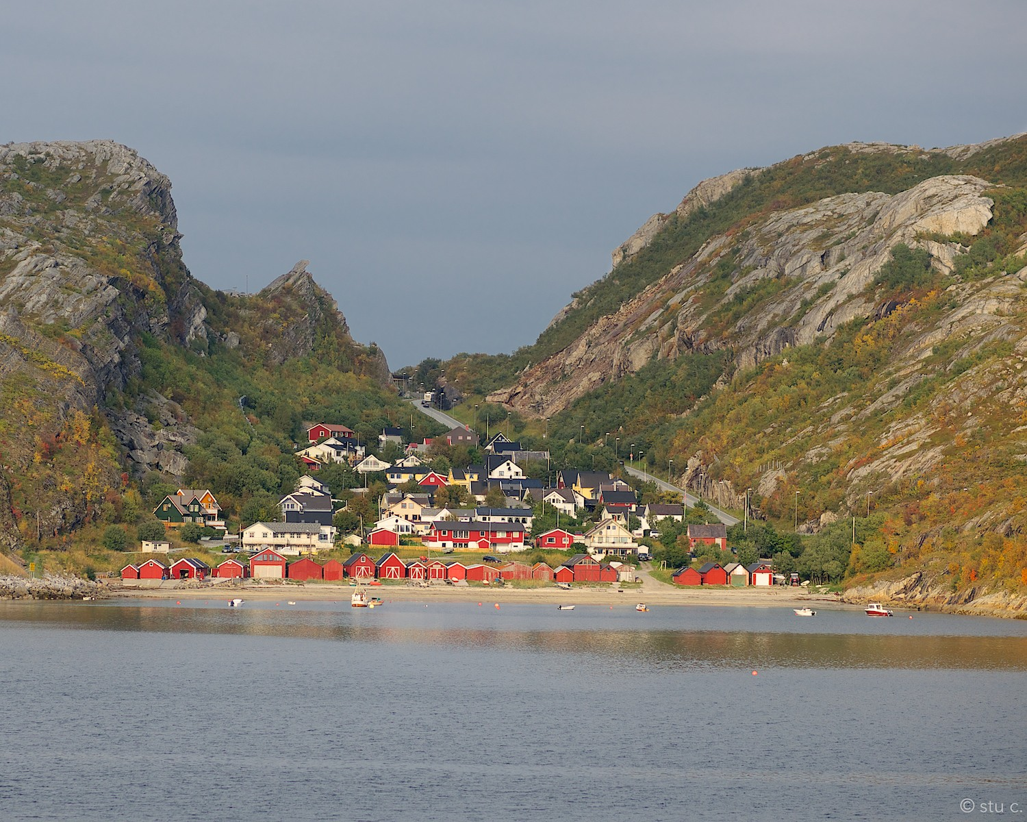Just leaving the port of Bodo, the ferry sailed past this hamlet, a tiny enclave calledKvalvika