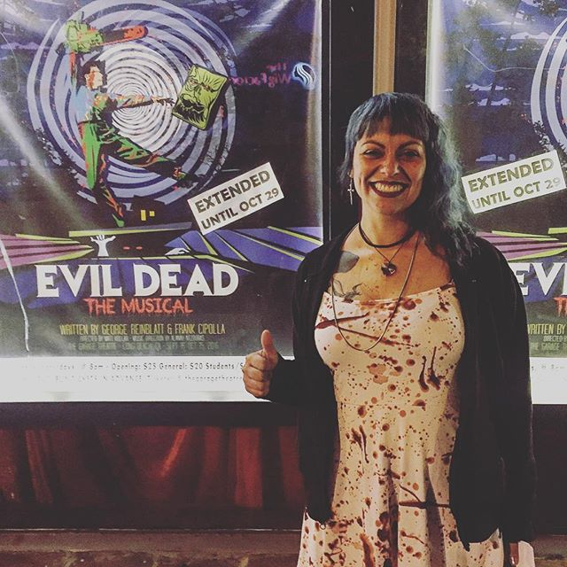A deadite that came dressed D for the occasion! #evildeadthemusical #thegaragetheatre #evildead2 #theatre #evildead #longbeach