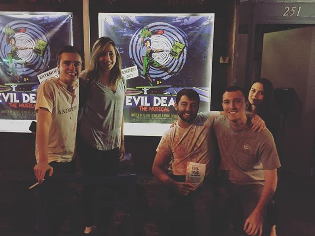 More happy and bloody Deadites! Thanks for the great weekend Southern California! #evildeadthemusical #longbeach #horror #theatre #evildead2 #evildead #thegaragetheatre