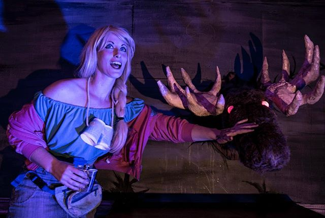 Shelly and her best fiend are looking forward to seeing you at the show tonight! #evildeadthemusical #evildead #evildead2 #horror #moose #evilmoose #theatre #horror