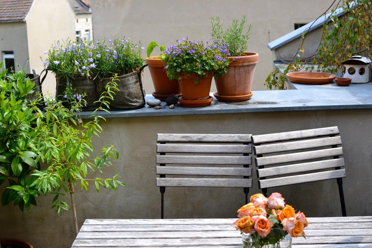 bepflanzung halbschattiger Balkon Berlin