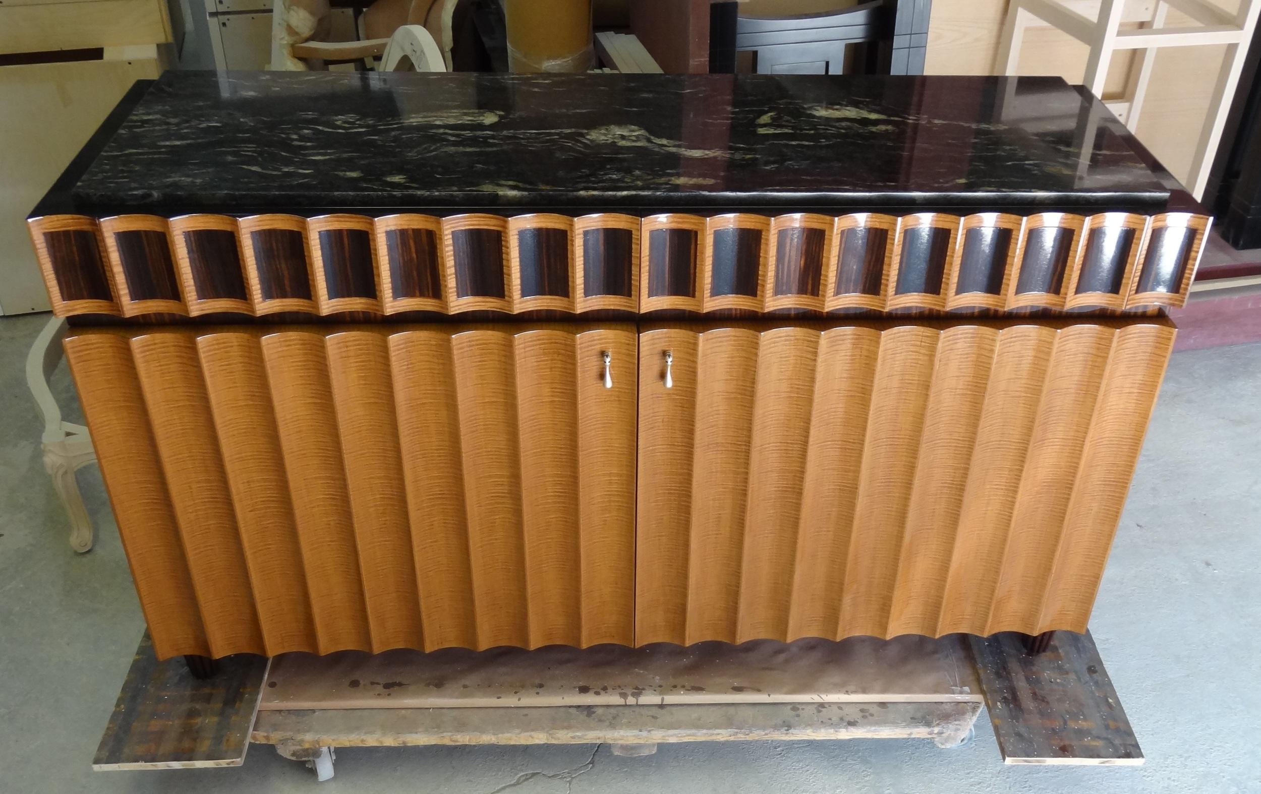 Custom Art Deco sideboard for Alexa Hampton by Victoria & Son