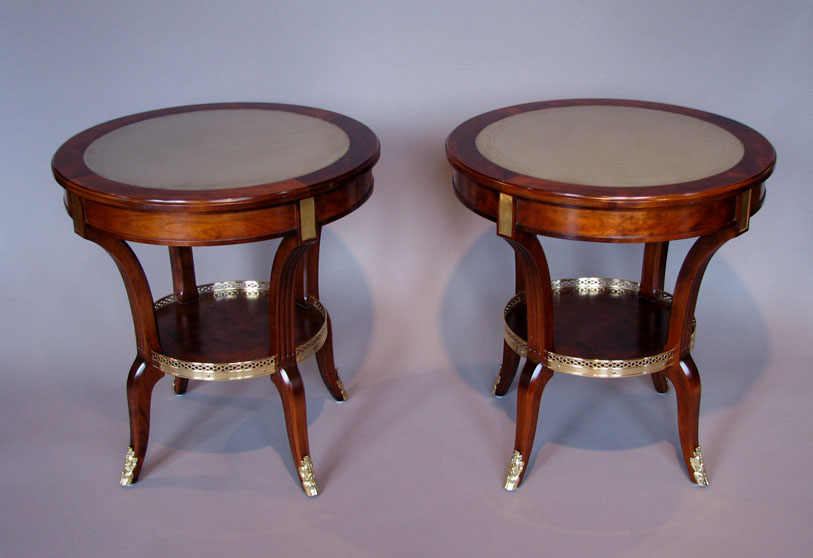 Custom bouillotte tables for Alex Papachristidis by Victoria & Son