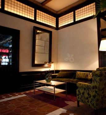Our Cole Porter Coffee Table in the Greenwich Hotel, NYC