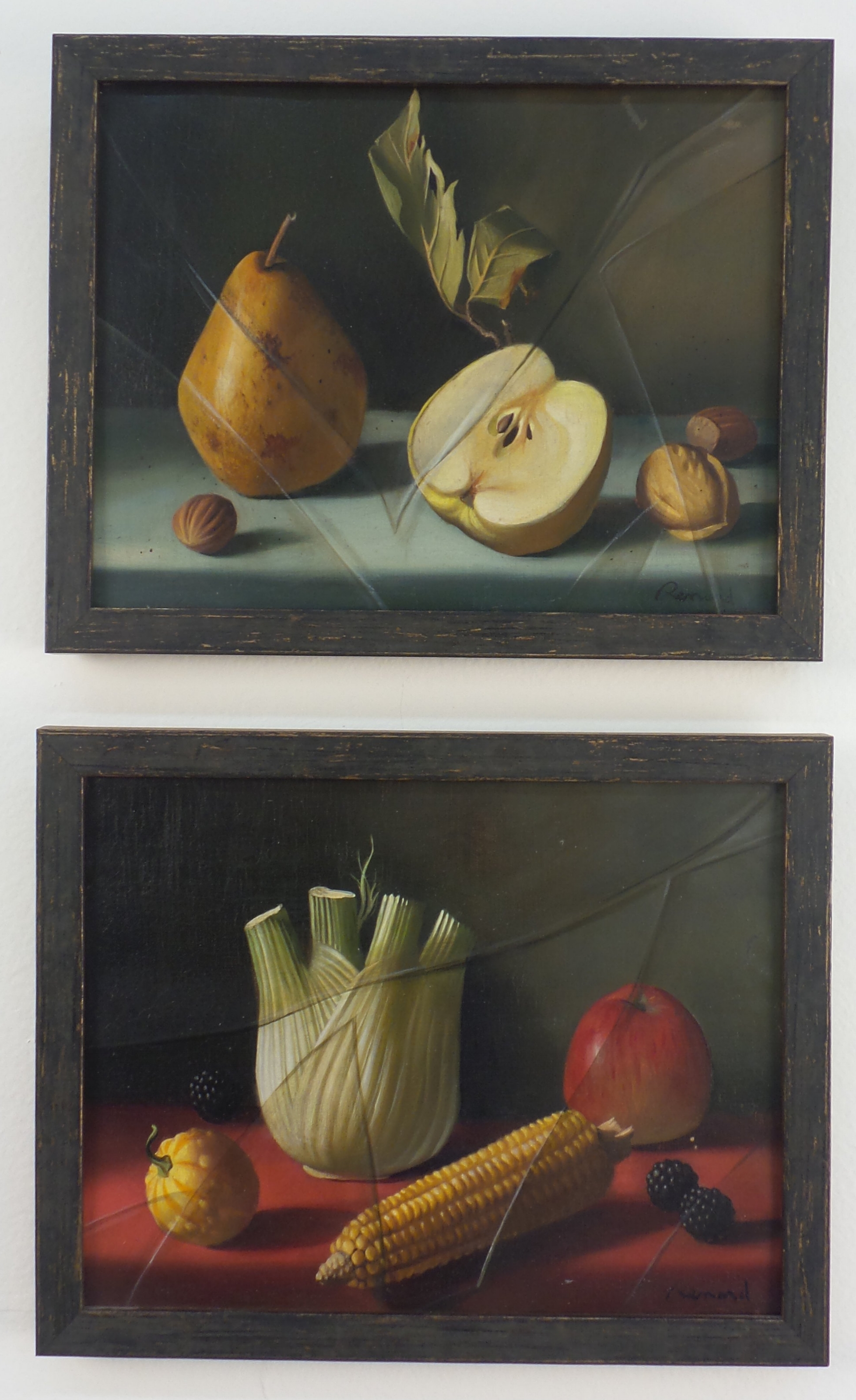 Two works by Fernand Renard for Fred Victoria, oil on canvas,circa 1955, from Tony Victoria's collection